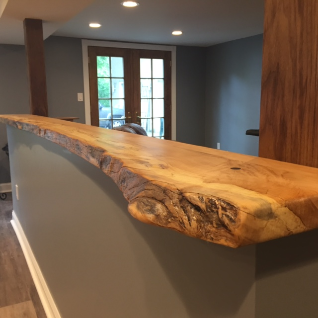 natural reclaimed custom wood countertops
